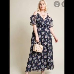 NEW Modcloth Liza Luxe wow and wonder blue floral